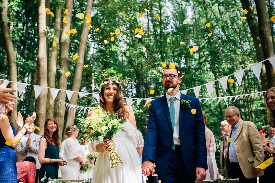 Annie And Drew S Bohemian Squirrel Lodge Woodland Wedding