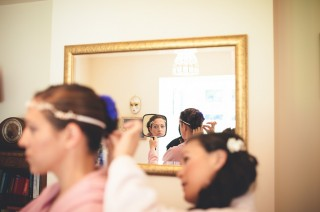 Bridal prep quirky alternative wedding photography london