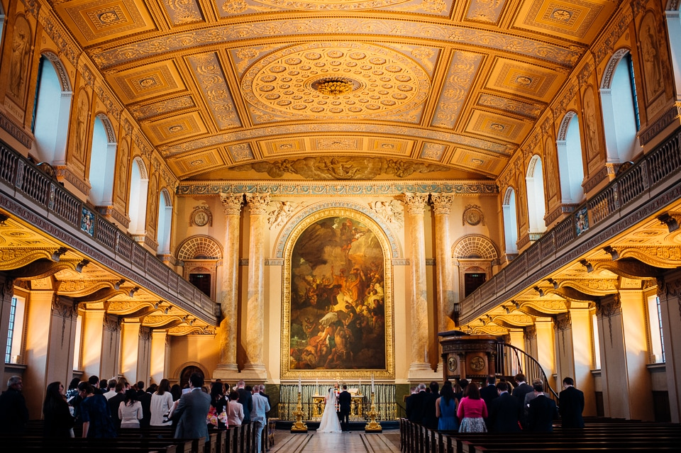 royal naval college library wedding-17