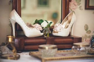 Vintage kitsch shoes alternative documentary wedding photographer london