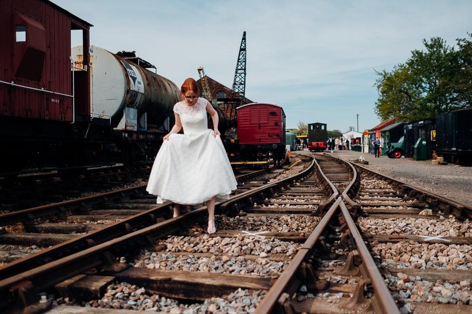 tipi train wedding east anglian museum-26