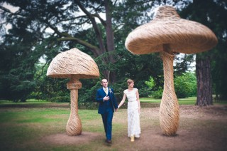 Alternative Kew Gardens Alice in Wonderland Mushrooms London Wedding Documentary Photography