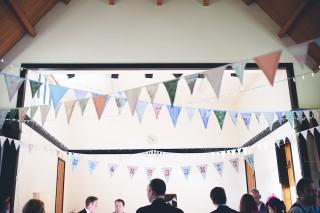 vintage bunting wedding