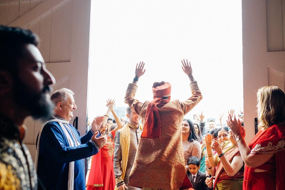 Indian Trinity Buoy Wharf wedding London-11