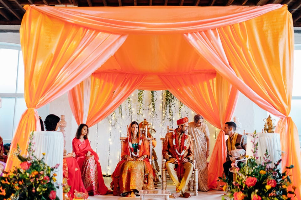Indian Trinity Buoy Wharf wedding London-22