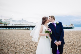 brighton pier wedding photography
