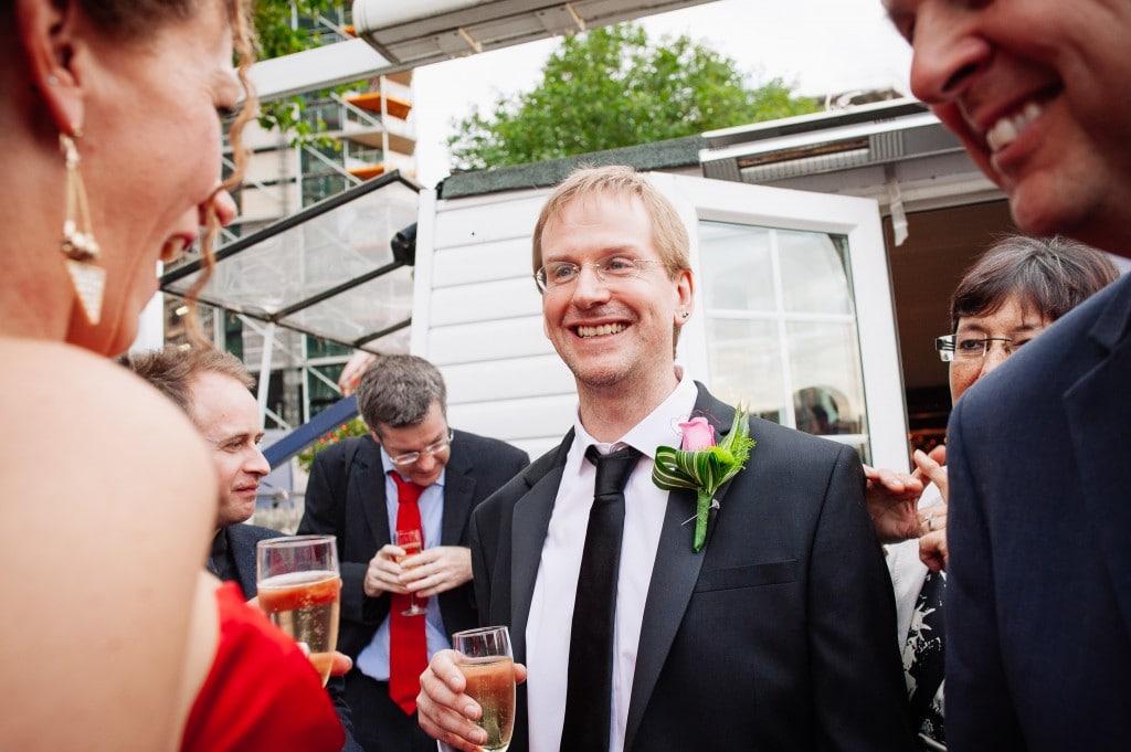 groom on boat deck