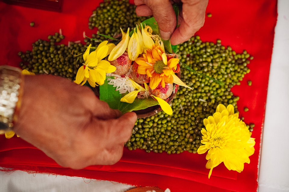 yellow flower offerings