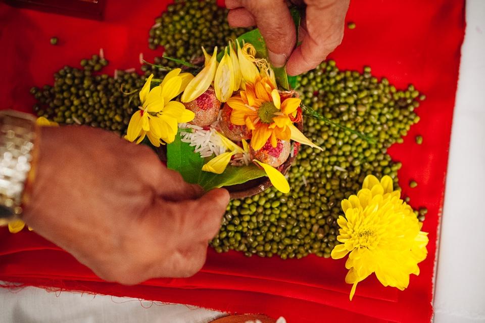 yellow flower offerings