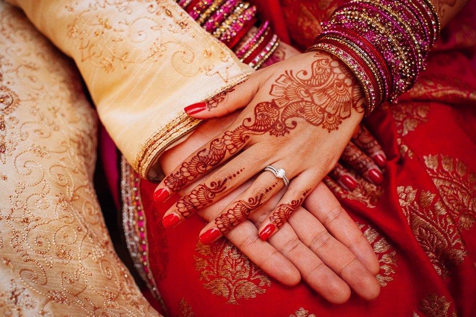 engagement ring shot mehndi