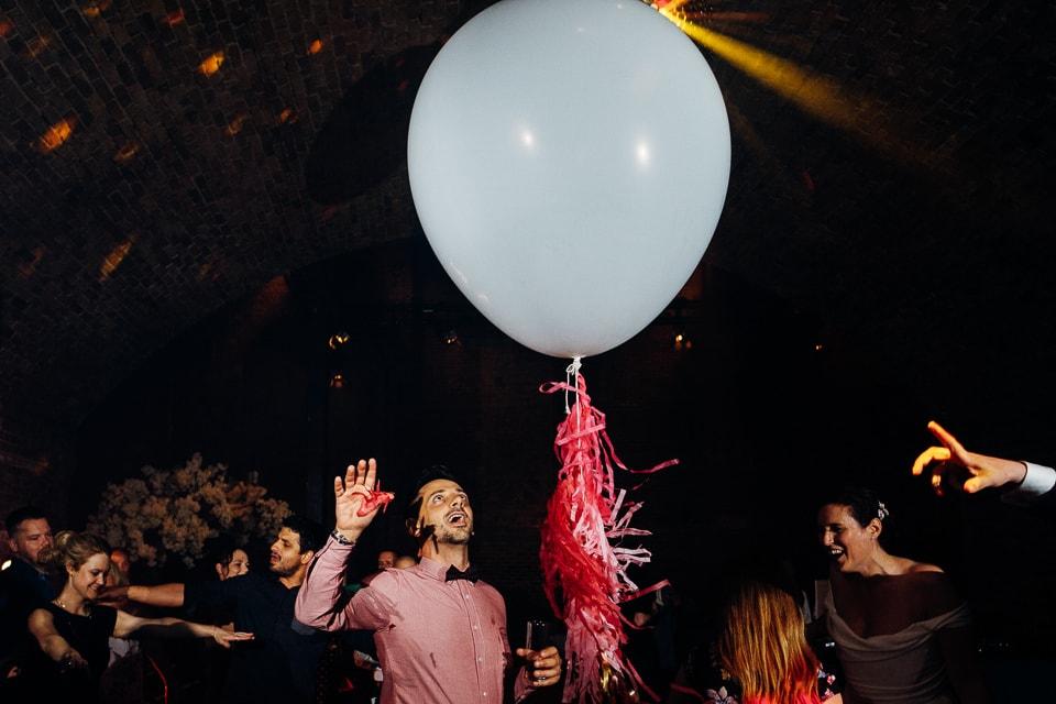 giant white wedding balloons