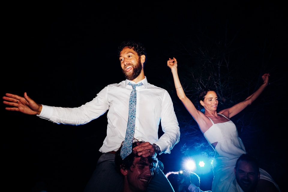 crowd surfing wedding party