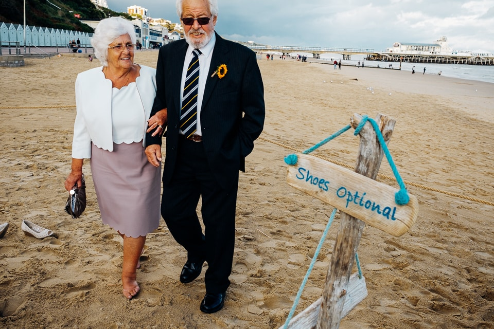 bournemouth beach old couple