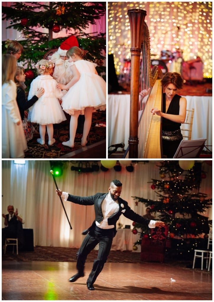 joseph hall dancing santa harpist