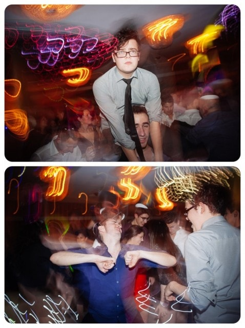 bat mitzvah guests dancing party photography