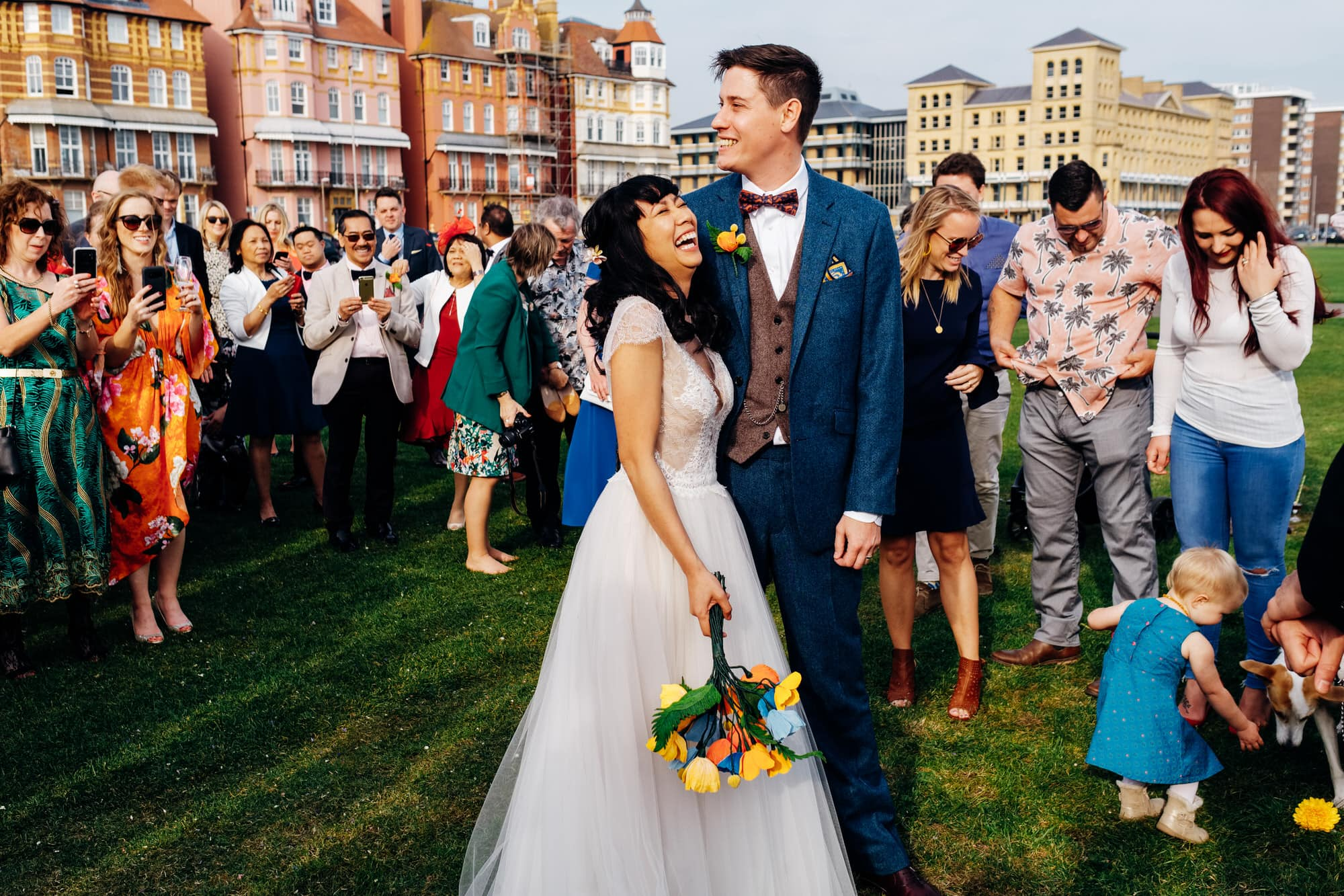 outdoor Brighton wedding