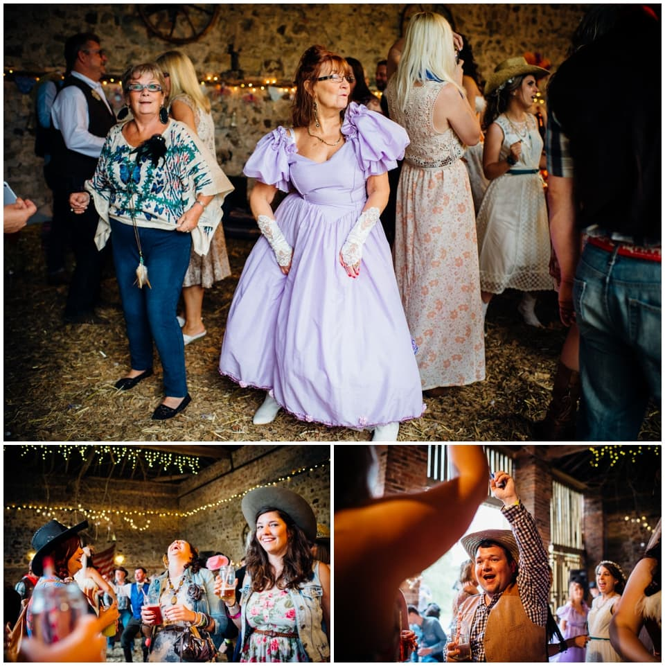 fun western wedding guests