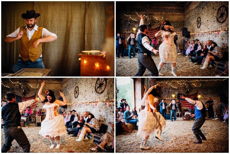 barn dance first wedding dance