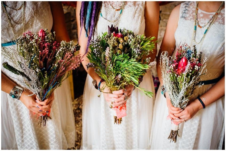 quirky alternative wedding flowers