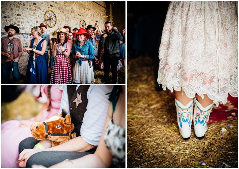 white leather western wedding boots