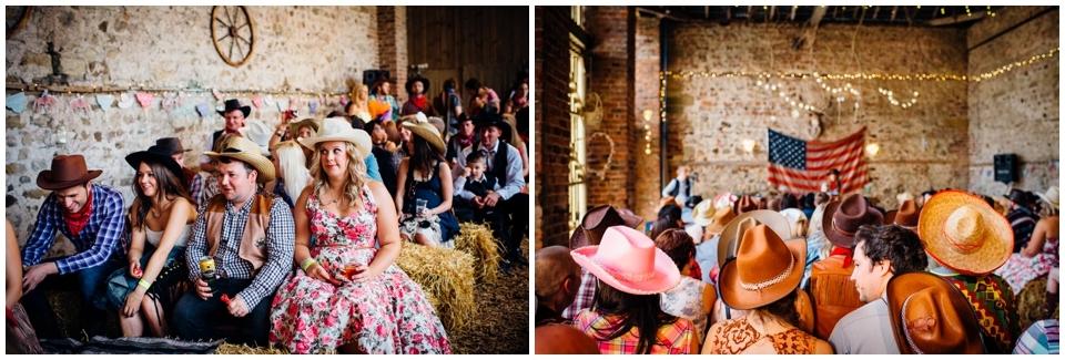 cowboy wedding guests