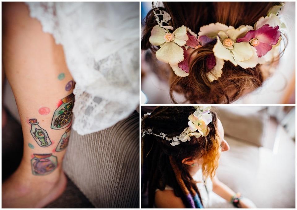 bridesmaid floral crowns