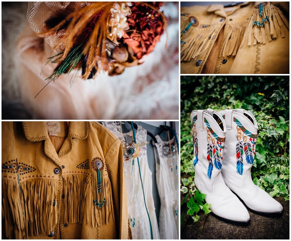 cowboy themed wedding leather boots