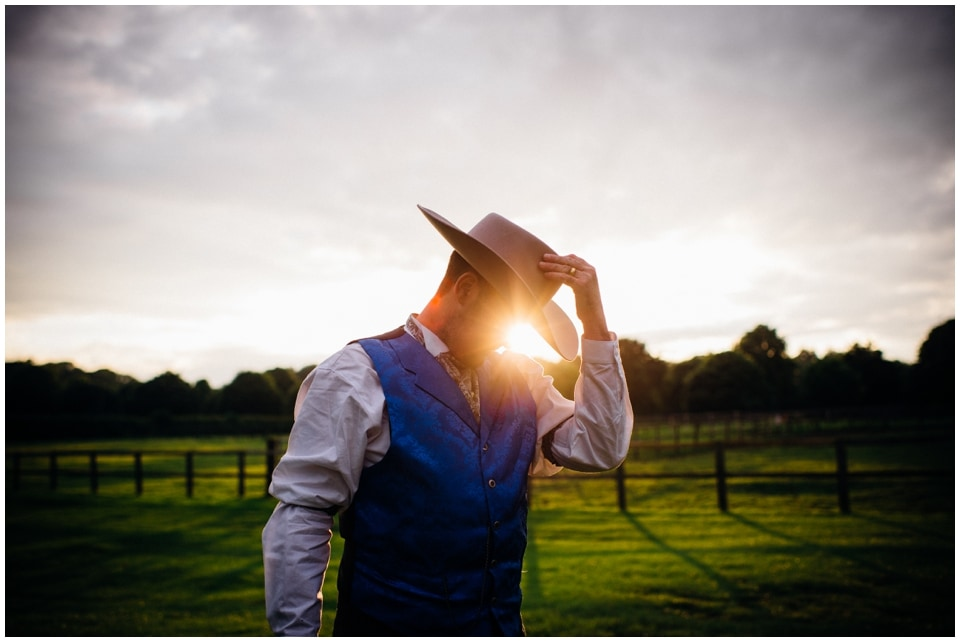 cowboy groom portrait