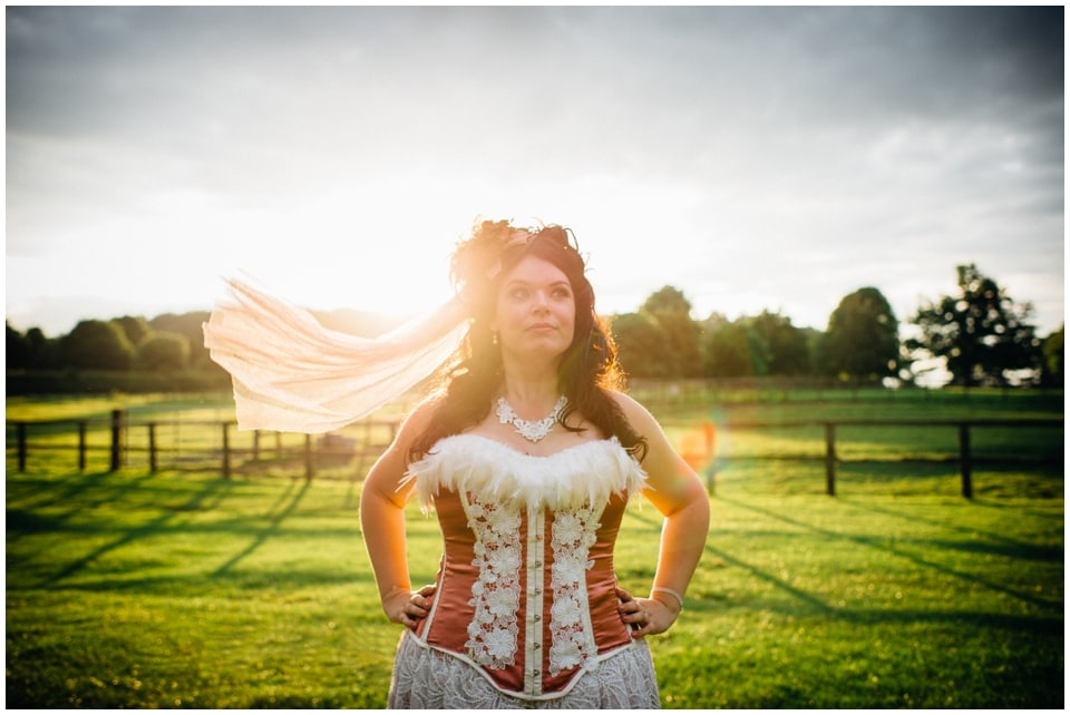 epic cowgirl bride portrait